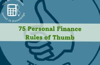 personal finance rules of thumb